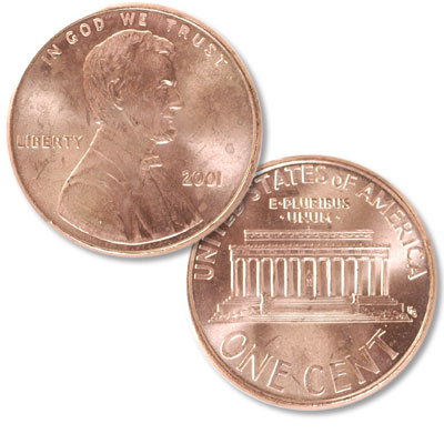 Image for 2001 Lincoln Head Cent from Littleton Coin Company