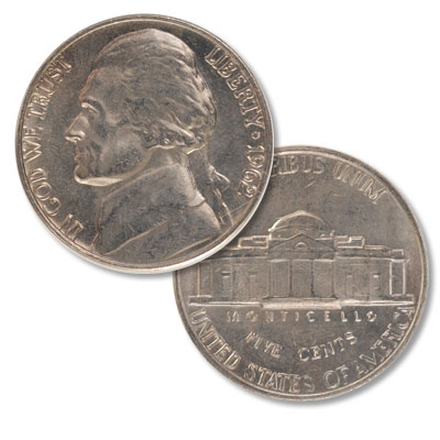 Image for 1962 Jefferson Nickel from Littleton Coin Company