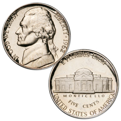Image for 1962 Jefferson Nickel Proof from Littleton Coin Company