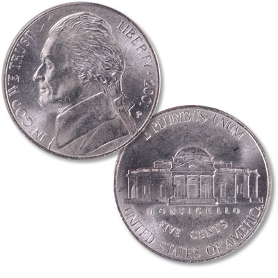 Image for 2001-P Jefferson Nickel from Littleton Coin Company