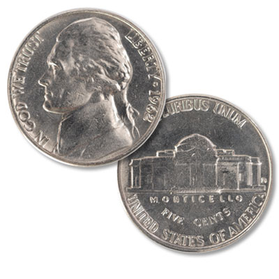 Image for 1962-D Jefferson Nickel from Littleton Coin Company