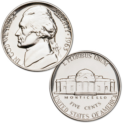 Image for 1963 Jefferson Nickel Proof from Littleton Coin Company