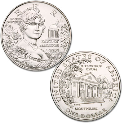 Image for 1999-P Dolley Madison Commemorative Silver Dollar from Littleton Coin Company