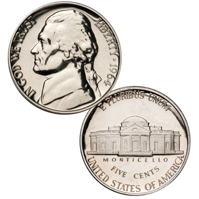 Image for 1964 Jefferson Nickel Proof from Littleton Coin Company