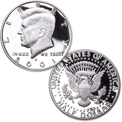 Image for 2001-S 90% Silver Kennedy Half Dollar from Littleton Coin Company