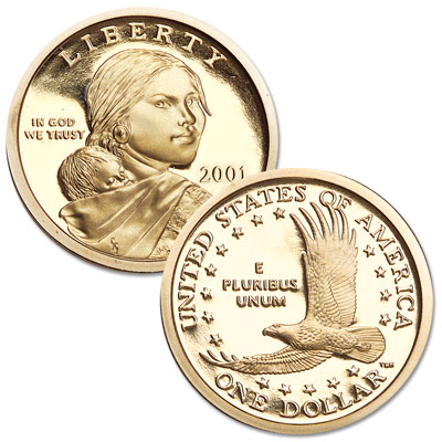 Image for 2001-S Sacagawea Dollar, Choice Proof, PR63 from Littleton Coin Company