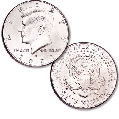 Image for 2001-P Kennedy Half Dollar from Littleton Coin Company