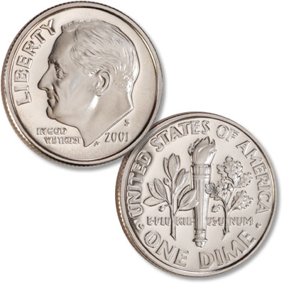 Image for 2001-S Roosevelt Dime from Littleton Coin Company