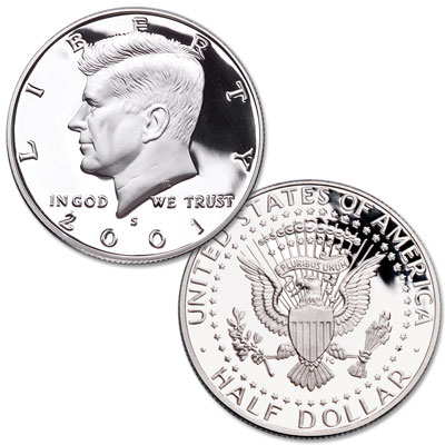 Image for 2001-S Clad Kennedy Half Dollar from Littleton Coin Company