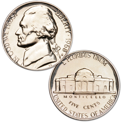 Image for 1968-S Jefferson Nickel Proof from Littleton Coin Company