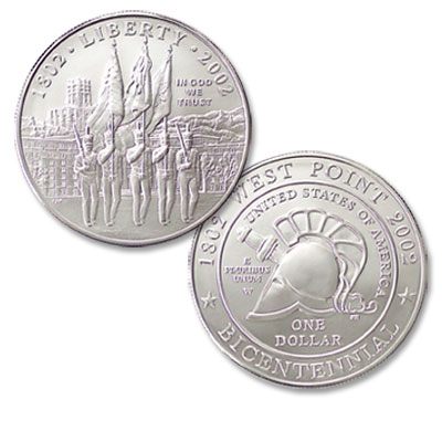Image for 2002-W West Point Bicentennial Commemorative Silver Dollar from Littleton Coin Company
