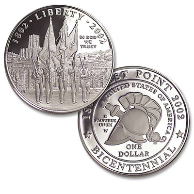 Image for 2002-W West Point Bicentennial Commemorative Silver Dollar, Proof from Littleton Coin Company