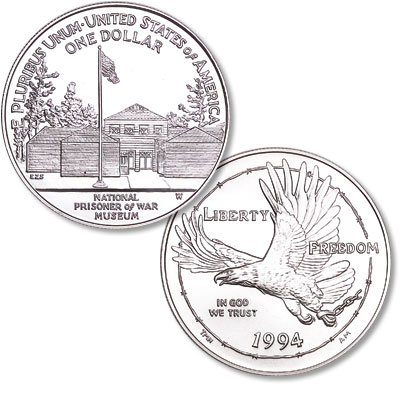 Image for 1994-W American Prisoners of War Silver Dollar from Littleton Coin Company