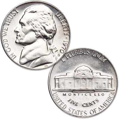 Image for 1970-S Jefferson Nickel from Littleton Coin Company