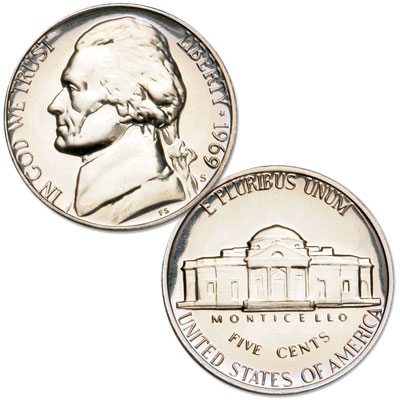 Image for 1970-S Jefferson Nickel Proof from Littleton Coin Company