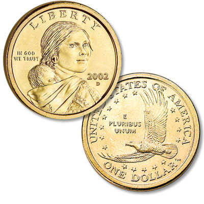 Image for 2002-D Sacagawea Dollar, Uncirculated-60 from Littleton Coin Company