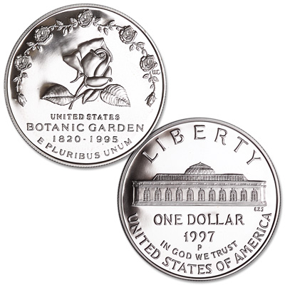 Image for 1997-P Botanic Garden Silver Dollar from Littleton Coin Company