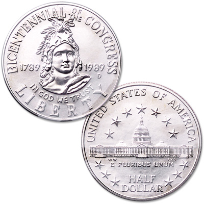 Image for 1989-D Congress Bicentennial Half Dollar from Littleton Coin Company