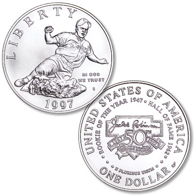Image for 1997-S Jackie Robinson Silver Dollar Commemorative from Littleton Coin Company