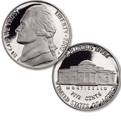 Image for 2002-S Jefferson Nickel from Littleton Coin Company
