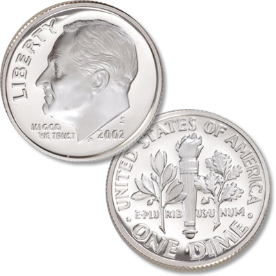 Image for 2002-S 90% Silver Roosevelt Dime from Littleton Coin Company