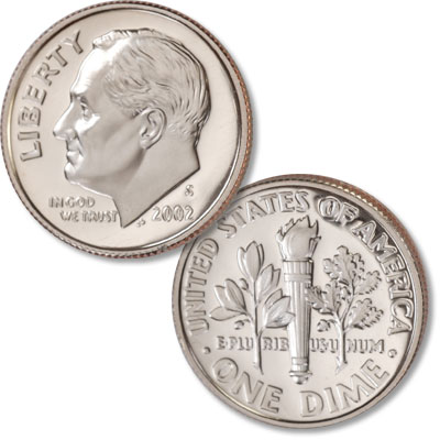 Image for 2002-S Roosevelt Dime from Littleton Coin Company