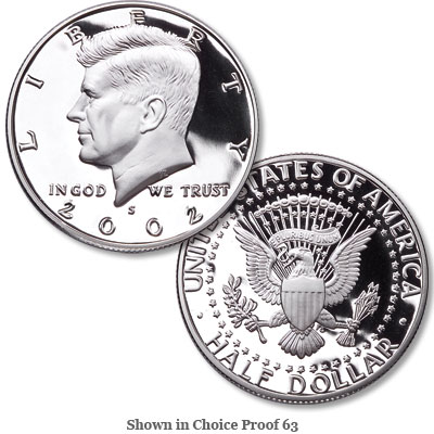 Image for 2002-S Clad Kennedy Half Dollar from Littleton Coin Company