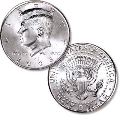 Image for 2003-P Kennedy Half Dollar, Uncirculated-60 from Littleton Coin Company