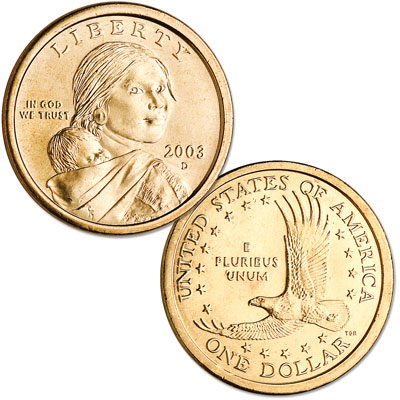 Image for 2003-D Sacagawea Dollar, Uncirculated-60 from Littleton Coin Company