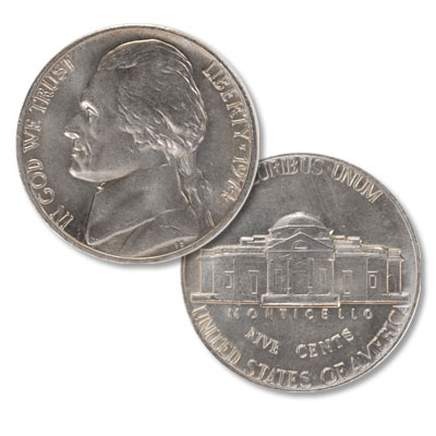 Image for 1974 Jefferson Nickel from Littleton Coin Company