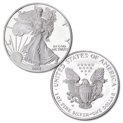 Image for 2003-W $1 Silver American Eagle, Choice Proof, PR63 from Littleton Coin Company
