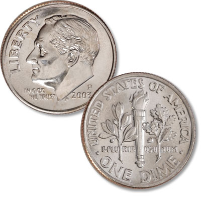 Image for 2003-P Roosevelt Dime from Littleton Coin Company