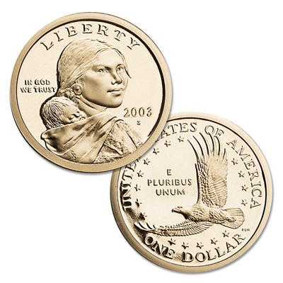 Image for 2003-S Sacagawea Dollar, Choice Proof, PR63 from Littleton Coin Company