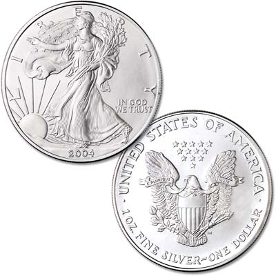 Image for 2004 $1 Silver American Eagle, Uncirculated from Littleton Coin Company