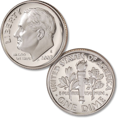 Image for 2003-S Clad Roosevelt Dime from Littleton Coin Company