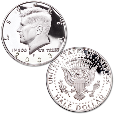 Image for 2003-S Clad Kennedy Half Dollar from Littleton Coin Company