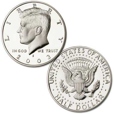 Image for 2003-S 90% Silver Kennedy Half Dollar from Littleton Coin Company