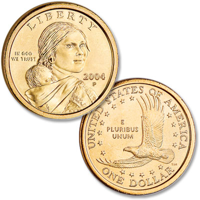 Image for 2004-P Sacagawea Dollar, Uncirculated-60 from Littleton Coin Company