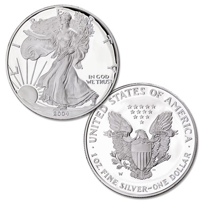 Image for 2004-W $1 Silver American Eagle, Choice Proof, PR63 from Littleton Coin Company