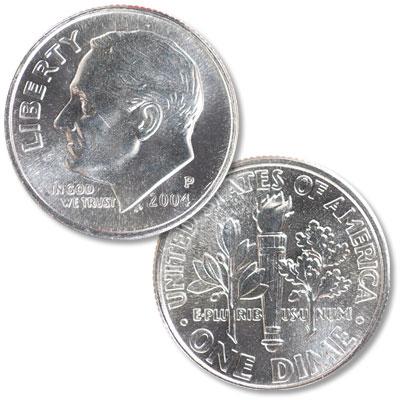 Image for 2004-P Roosevelt Dime from Littleton Coin Company