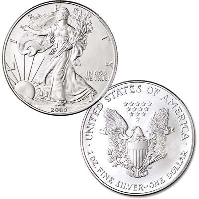 Image for 2005 $1 Silver American Eagle, Uncirculated from Littleton Coin Company