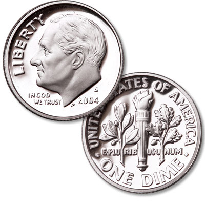Image for 2004-S 90% Silver Roosevelt Dime from Littleton Coin Company