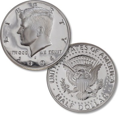 Image for 2004-S 90% Silver Kennedy Half Dollar from Littleton Coin Company