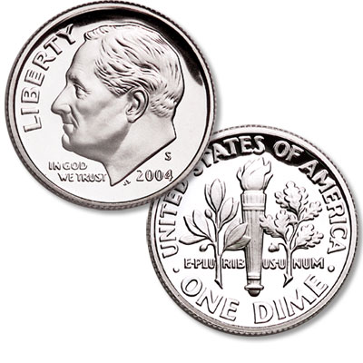 Image for 2004-S Roosevelt Dime from Littleton Coin Company