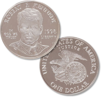Image for 1998-S Robert F. Kennedy Silver Dollar from Littleton Coin Company