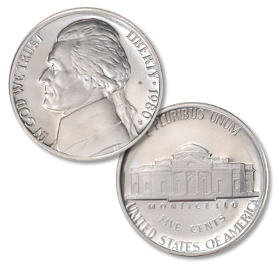 Image for 1980-S Jefferson Nickel Proof from Littleton Coin Company