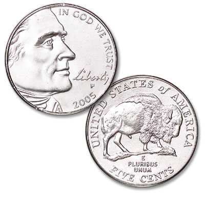 Image for 2005-P Jefferson Nickel, Bison from Littleton Coin Company