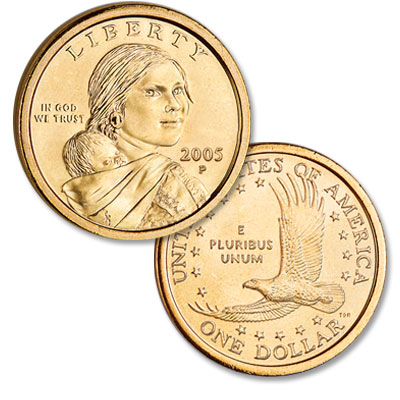 Image for 2005-P Sacagawea Dollar, Uncirculated-60 from Littleton Coin Company