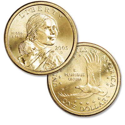 Image for 2005-D Sacagawea Dollar, Uncirculated-60 from Littleton Coin Company
