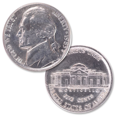 Image for 1983-D Jefferson Nickel from Littleton Coin Company